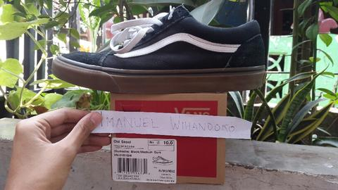 Vans Old Skool Oldskool Black Gum sz size 43 2nd ORIGINAL LEGIT1000%