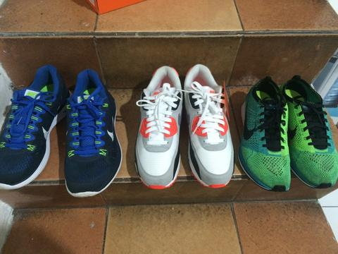 Airmax 90 Infrared 2015 BNWT, Flyknit Racer, Lunarglide 5 Kinyis-Kinyis :)