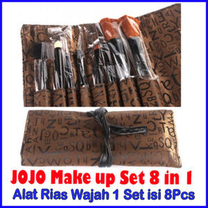 ALAT RIAS WAJAH MAKE UP 1SET=8PCS KUAS MERK JOJO