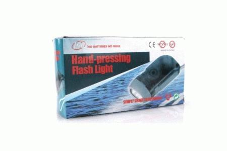Hand pressing flashlight. 3 lampu LED