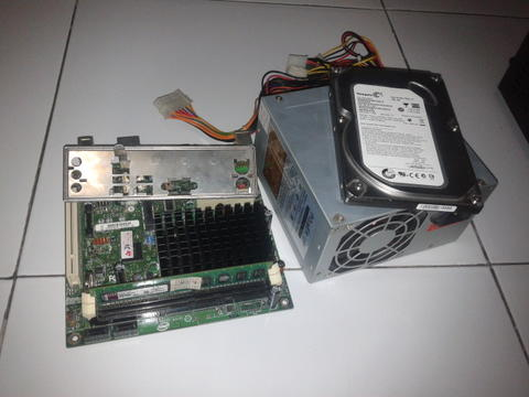 Mini ITX Intel ATOM D510MO + RAM 1Gb + HDD Seagate 250Gb + PSU
