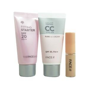 The Face Shop Cushion 3 Step Perfect Make Up Kit 3 Items