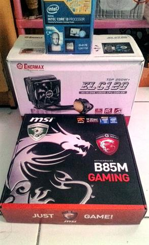 PC Gaming Haswell i3 4170 + MSI B85M gaming Socket 1150 Bandung