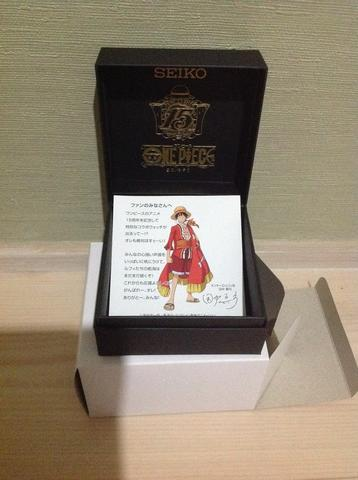 One Piece x SEIKO Watch Limited 15th Anniversary Leather Limited Japan