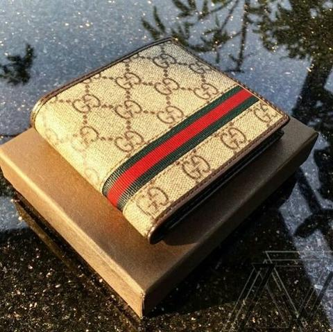JUAL DOMPET GUCCI MEN BROWN MIRROR QUALITY MIRROR QUALITY | SMS/WA: 0812 1737 9888