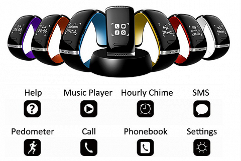 [IPHUNKZ] L12S SMART BRACELET WRIST WATCH FOR ANDROID & IOS