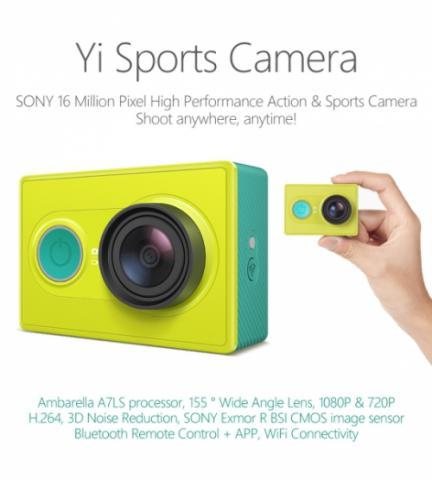 [stary] Xiaomi Yi Action Camera,Yi Travel,Waterproof,Case,Baterai Kit,Lens Cap