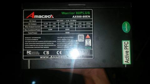 PSU AMACROX WARRIOR PURE 500W MALANG
