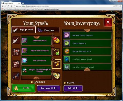 Jual Gold Arcane Legends