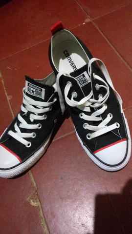 Converse Chuck Taylor All Star Canvas black Line Red