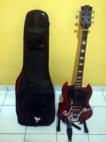 GUITAR CUSTOM SG RED MAROON