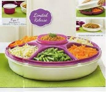 Tupperware Serving center + Free bowl - harga promo