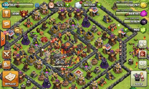 JUAL ID COC TH 10 Murah, (Android)