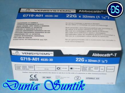 Abocath IV Catheter Jarum Infus No.24