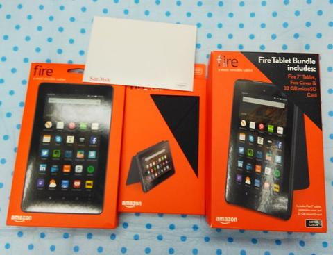 """Fire 7"""" Tablet + Cover & Micro SD 32 Gb Free Delivery Jakarta - Depok"""