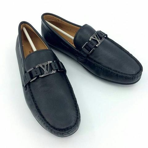Jual JUAL SEPATU LOAFERS SEMI PANTOFEL LV BLACK MIRROR QUALITY ... 479be9e761
