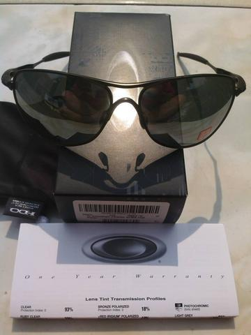 0f55ca4ab83 Authentic SunGlass Oakley CrossHair Ti Pewter OO6014-02 W Black Iridium