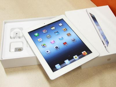 Apple Ipad 3 64GB wifi + Cellular White, lengkap