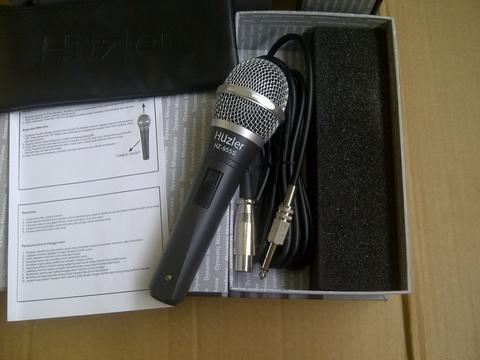 Mic/Microphone Cable Huzler HZ-955s ,Switch on-off,Bonus Cable,New