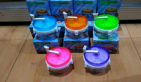 Blender Pemotong Sayuran Manual, Twisting Vegetable Chopper