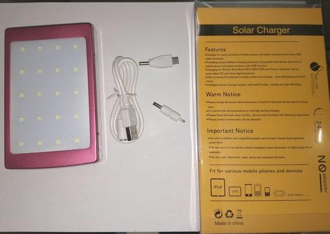 power bank solar charger with LED