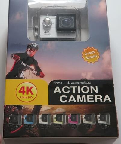 Wifi Action cam 4k H9 Lcd 2.0in hdmi like xiaomi yi GO pro White