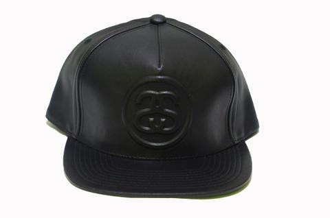 Terjual Stussy Double S Leather Snapback Hat Original  2412274211e