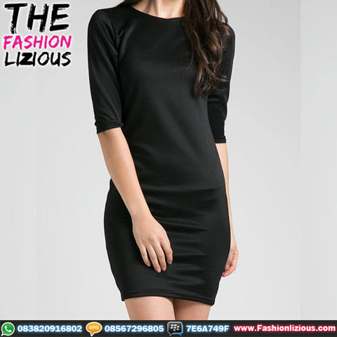 Dress Wanita Fashionable - Black Style Dress
