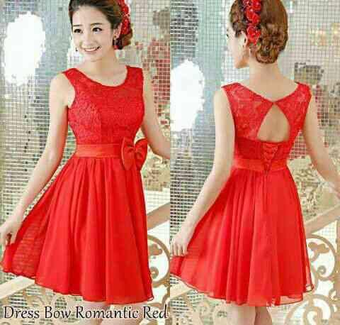DRESS RED BOW (8)