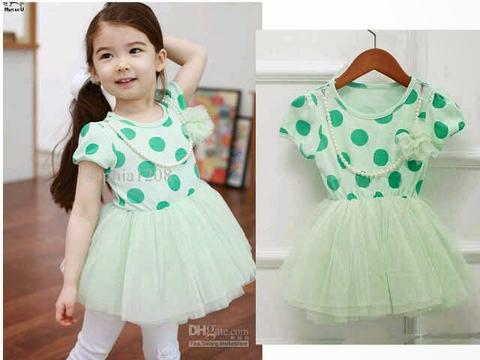 Dress Tutu Green Dot Kid BR6531
