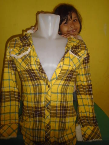 SIZE M ,,KEMEJA FLANEL FOR WOMAN 082