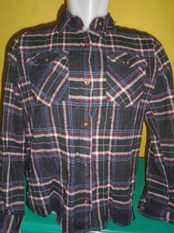 SIZE M,,KEMEJA FLANEL FOR WOMAN CLEF 084