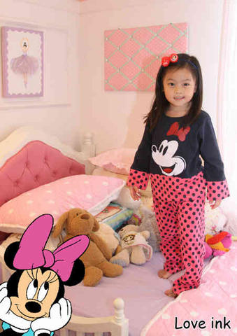 Setelan LP Minnie Dot Pink Pants Kid
