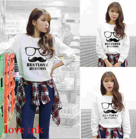 Sweater Moustache White 11372349