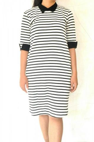 Dress Hitam Putih (Black and White)