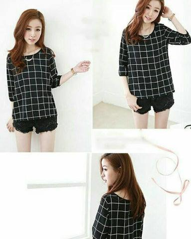 BLOUSE VANY black, navy (21)