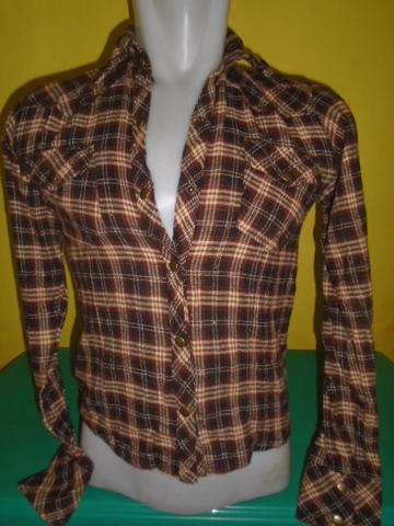 SIZE S,,KEMEJA FLANEL FOR WOMAN 106