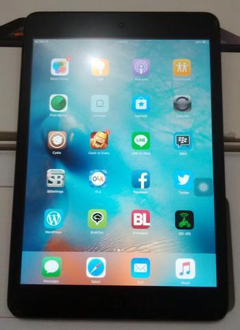 Apple iPad Mini 4G + Wifi Black 16GB Fullset Murah