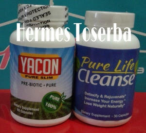 Yacon Pure Slim + Pure Life Cleanse Original USA - Pelangsing Herbal