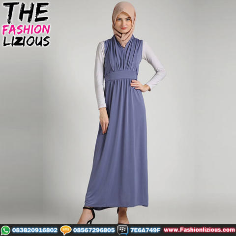 Busana Muslim Wanita - Havva Blue Dress
