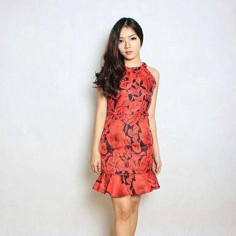 Dress Red Flo FIRST QUALITY