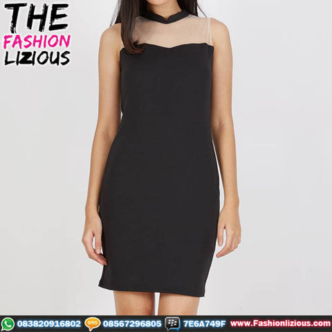 Baju Wanita Fashionable - Vivo Black Dress