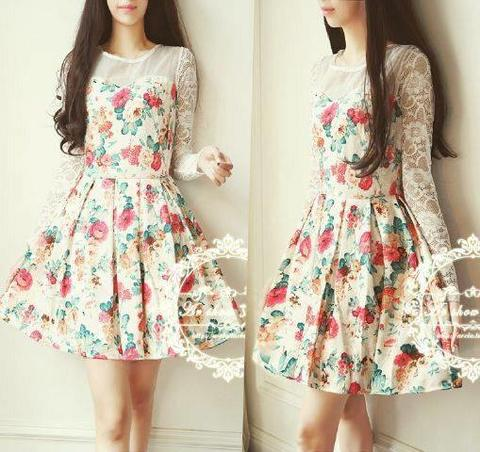 DRESS BUNGA BRUKAT (10)