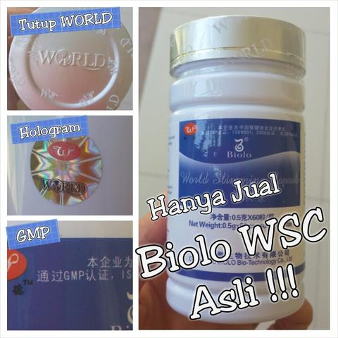 BioloWSC (isi 60) Hologram GMP Tutup Emboss World