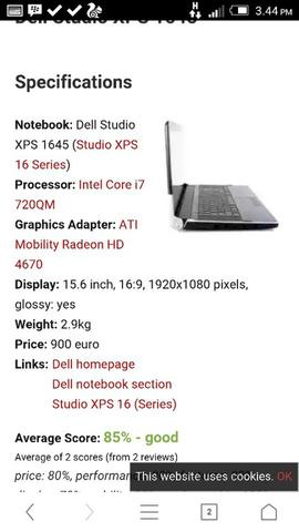 TERJUAL DELL STUDIO XPS 1645 i7 1 6GHZ UP TO 3 2GHZ RAM 4GB HDD 500GB