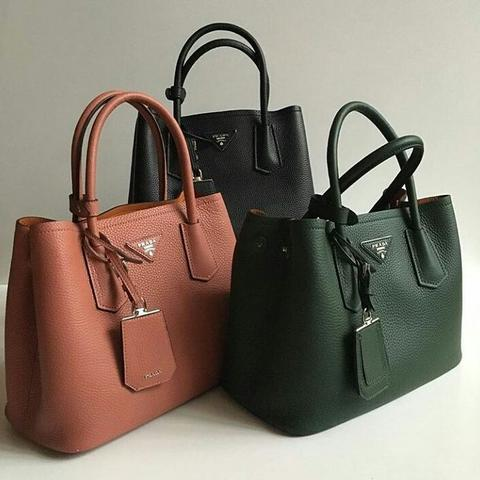 ... order jual tas prada double bag small 2tones soft grained leather  mirror quality 23379 faa4d ... 52484d10c5