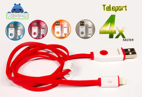 HIPPO NYMP TRAVEL CHARGER, TELEPORT FAST CHARGING KABEL & DATA MICRO USB & IPHONE 5/6