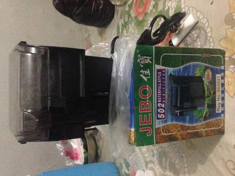 Filter hang on / hob merk jebo 502 filter aquarium / aquascape
