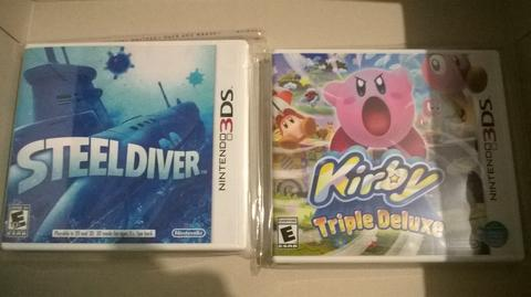 WTS game nintendo 3DS kirby triple deluxe & steel diver