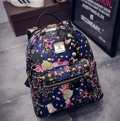 CUTE FLORAL BACKPACK - TAS RANSEL MOTIF BUNGA - KOREAN STYLE - IMPORT -  HIGH QUALITY fd05862c3d